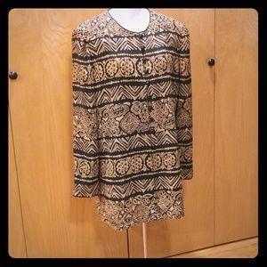 Liz Claiborne Tunic/Jaket type blouse size 12